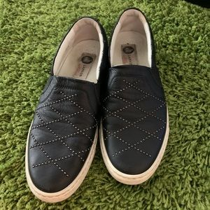 Lanvin Navy slip on shoes